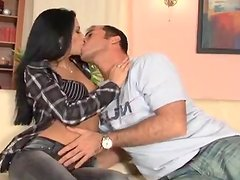 Sensual Brunette's Eaten Out And Fucked By A Horny Guy