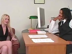 Blonde Gets an Anal Creampie from a Black Cock in Interracial Clip