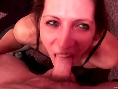 An Amazing Deep Throat From A Slutty Mature In A POV