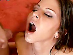 Busty Rachel Roxx rides a big cock and gets huge facial cumshot