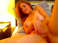 Stunning Redhed With Huge Tits On Webcam
