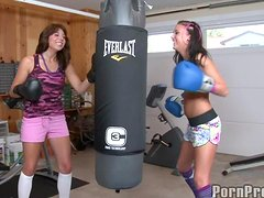 A Hot Threesome With The Boxing Sluts Ivy And Her Best Friend