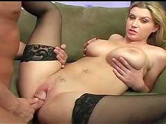 A Warm Facial For The Busty Blonde Sarah