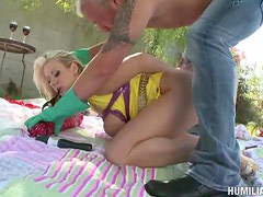 Hot Backyard Bondage With The Hot Blonde Carolyn Reese