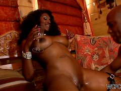 A Rough Scene With The Oiled Up Nyomi Banxxx
