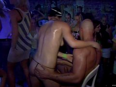 Drunk Babes And Horny Guy Have Sex In A Party