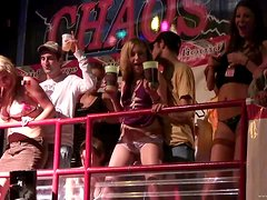 Naughty College Hotties Show Thier Asses In A Spring Brak Party