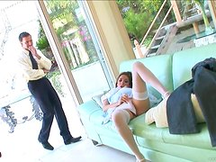 Kinky Maid Fuck Her Boss After He Findes her Masturbating
