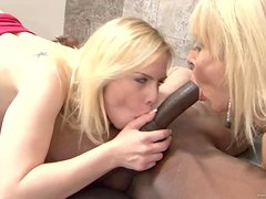 An Interracial Threesome For Two Slutty Blondes