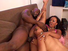 A Threesome With A Big Black Cock For Ebony Sluts