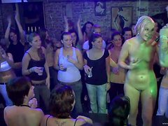 Drunk babes get Naked In A Party