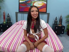 Sexy Babe In School Uniform Is Fucked By A Big Cock
