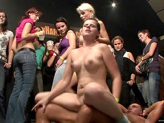 Lovely Ladies Enjoy Sucking And Fucking Hard Cocks In A Party