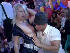 A Wild Gangbang For A Drunk Blonde In A Party