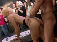 Slutty Hotties Are Drilled By Horny Strippers