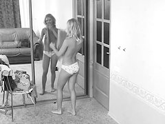 A Spy Cam Video Of A Blondie Changing Her Clothes