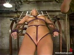 Sasha Sparks the babe in sexy lingerie gets whipped and drowned