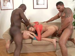 Horn made hussies Kitty Jane and Olga Barz get double fucked