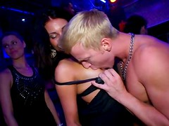 Perverted slim nymphos with sweet tits desire to suck dicks and eat pussies