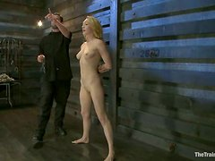 Maestro Stefanos and Mickey Mod torment a blonde and fuck her holes