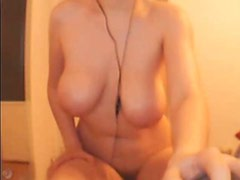 Classy italian woman with big tits and hairy pussy