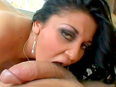 Dirty brunette in wild POV action