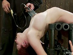 Extreme Pussy Toying in Wild Bondage Video with Iona Grace