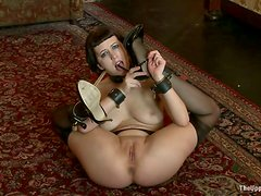 Cherry Torn gets tormented and beaten in BDSM scene
