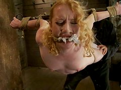 Nicki Blue the blonde with pigtails gets humiliated