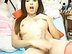 Asian Ladyboy Shemale Cam Clip