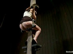 Bondage and Candle Wax Fetish Action in BDSM Vid for Lindy Lane