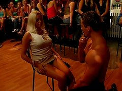 Hot sex party with horny male stripper and drunk bitches