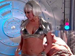 Space age chick fucked lustily