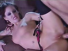 Jenna Presley gets her tight slot rammed and hot cum shot in face