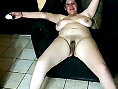 Amateur hairy chubby mature