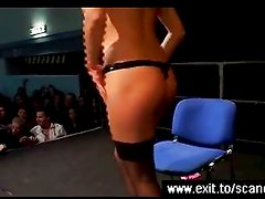 Porn event with public anal toying