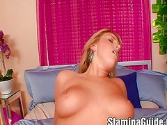 Huge Tits Blonde Ride A Big Cock