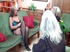 Nasty old and young lesbians get horny
