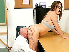 Ashlynn Leigh is experimenting with his professor! Part 2