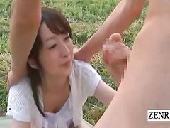 Subtitles CFNM outside Japan semen ranch