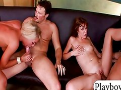 Two tight girls enjoyed foursome action