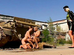 Cadet Cuties Do Their Country Proud / Sandra Sanchez, Angelina Love, Michelle