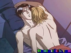 Anime gay boy gets sex fun at night