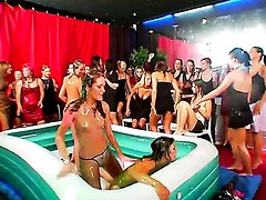 WET AND MESSY OIL WRESTLING MADNESS