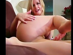 sexy blonde in pantyhose dirty talk