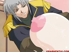 Busty hentai Princess gets squeezed her bigti