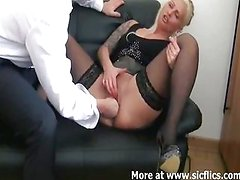 Fisting my bitch boss till she squirts