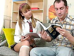 Hard fuck for a naughty schoolgirl