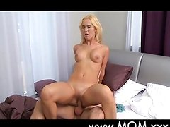 Horny MILF takes two large cocks