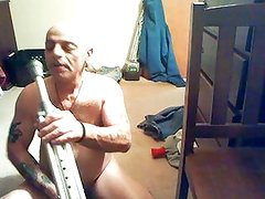 tonys anal insertion with a crutch